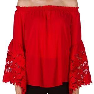 Joseph Ribkoff Red Top Style 173286 size 2